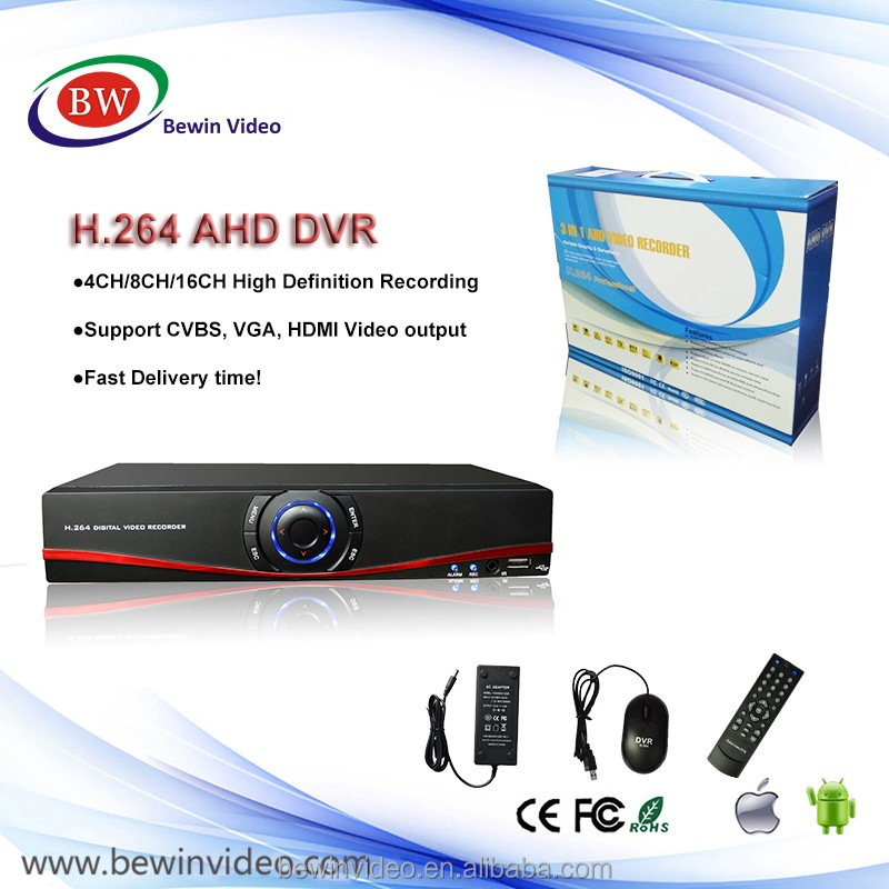 China ip surveillance dvr 4ch cctv dvr sunluxy h.264 network dvr manual with new color box