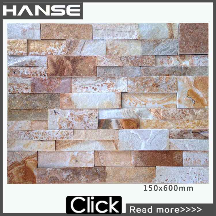 HS-ZT052 cultured stone veneer slate ledge stone walling china multicolor slate ledge stone