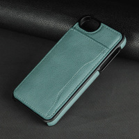 Factory Simple Mobile Phone Back Cover,Leather Case for iphone SE With Credit Card