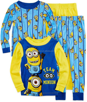 TF-04150814007 2015 high quality children's 100% cotton kids pajamas sets/children sleepwear / nightwear minion despicable me