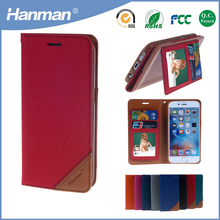 Factory Direct Wholesale flip stand pu flip leather phone case for iphone5 cover case