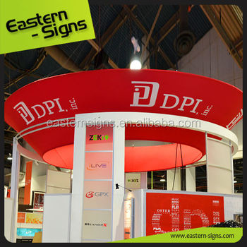 Circular Aluminum Hanging Banner Display