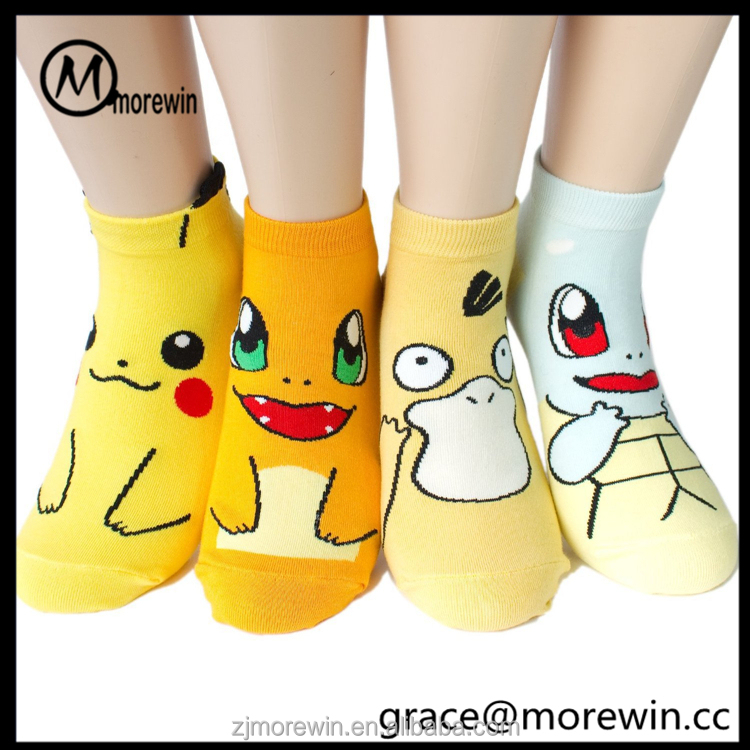 Morewin brand women's cartoon character pokemon ankle socks