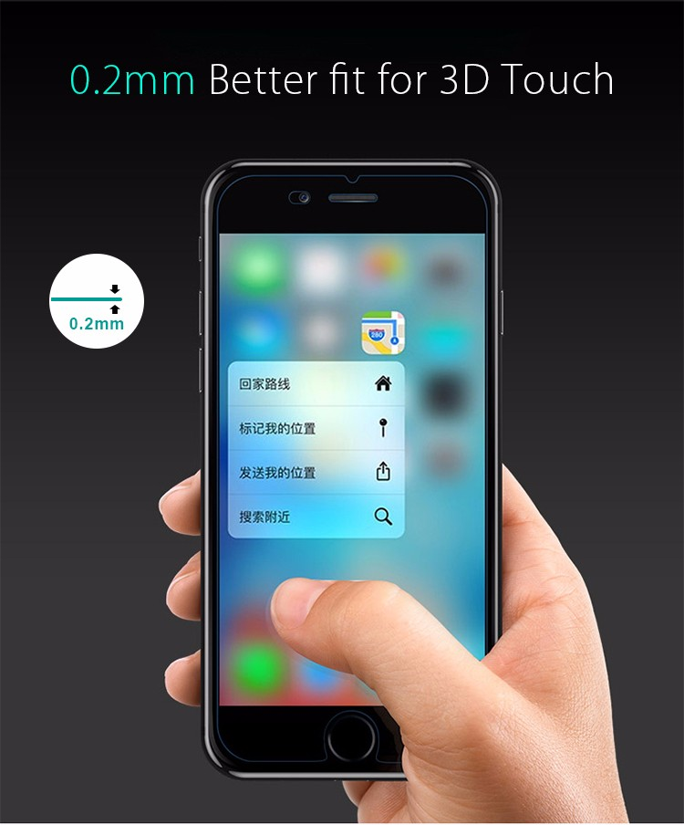 Wholesale Factory 2.5D Explosion-proof Screen Protector for iPhone 7 Tempered Glass