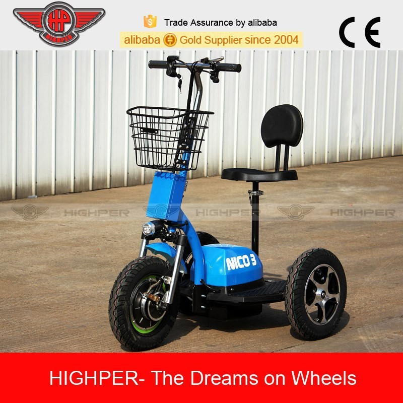 2015 500W 48V20AH Electric 3 Wheel Mobility Scooter, Handicapped Scooter (HP105E-D)