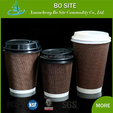 2016 new design,green envirment ,Eco-friendly disposable paper coffee cup lid custom printed of customer logo
