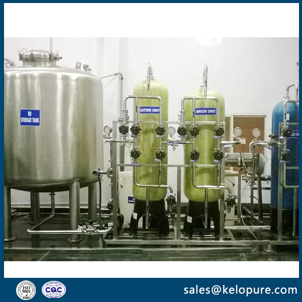 Automatic EDI (demineralized) water system for water treatment plant