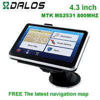 Wholesale 4.3 inch car GPS navigator Wince6.0 CPU 800Mhz built-in 128M/4GB with free latest maps