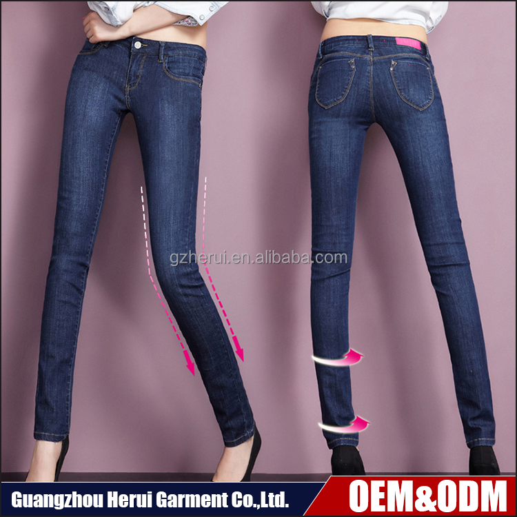 Fashion High Quality Woman Stretch Fit Denim Jeans Trousers Hot Sale Ladies Washed Skinny Jeans Pants Pent
