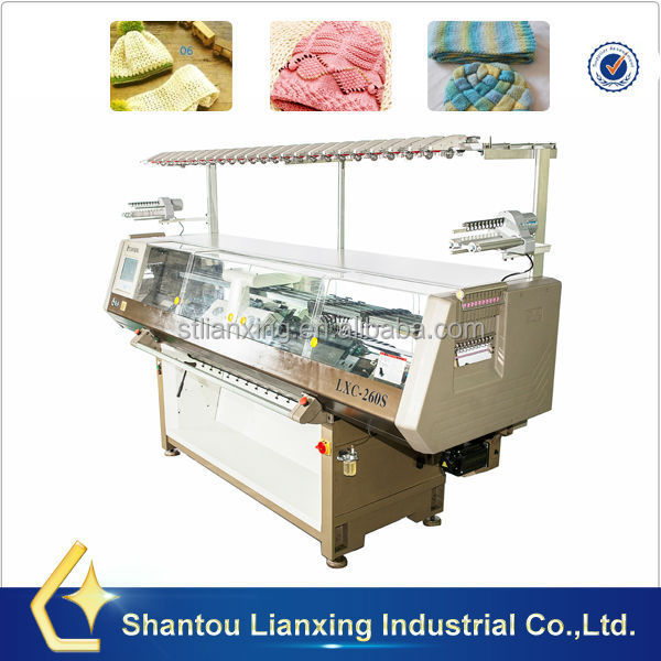 Fully jacquard cap knitting machine