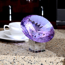 MH-ZS108 glass diamond crystal paperweight for wedding showpiece