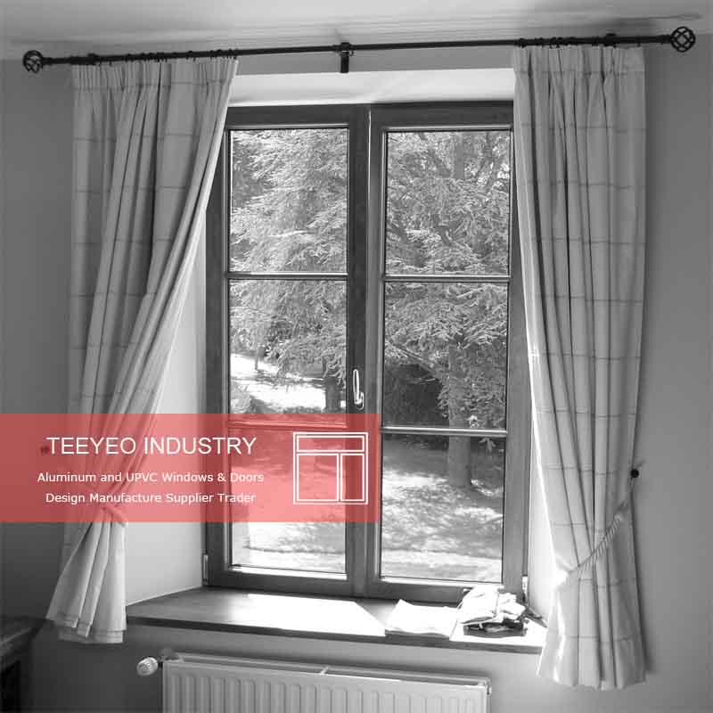 Teeyeo 3 panel triple rubber weatherstripping aluminum casement doors and windows