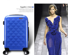 Jewelry blue trolley hard case, travel luggage, trolley bag with universal wheels