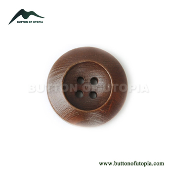 Natural Wooden Buttons Round Brown Big Buttons