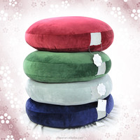 3D round cushion with four way stretch short floss cover-big size