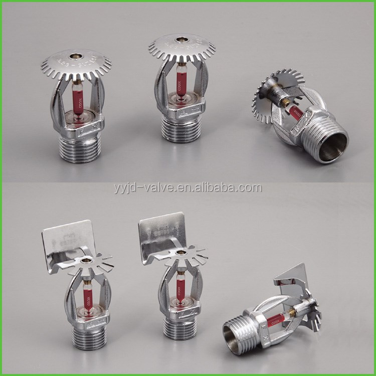 1/2 inch zinc alloy Pendent glass bulb fire sprinkler