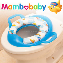 High quality cartoon baby/kids portable safety toilet seat cover with handles