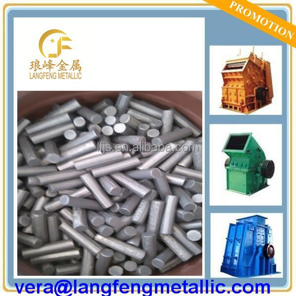 Titanium carbide cermet pins for max wear life in impactors blows bars jaw crusher TiC pin