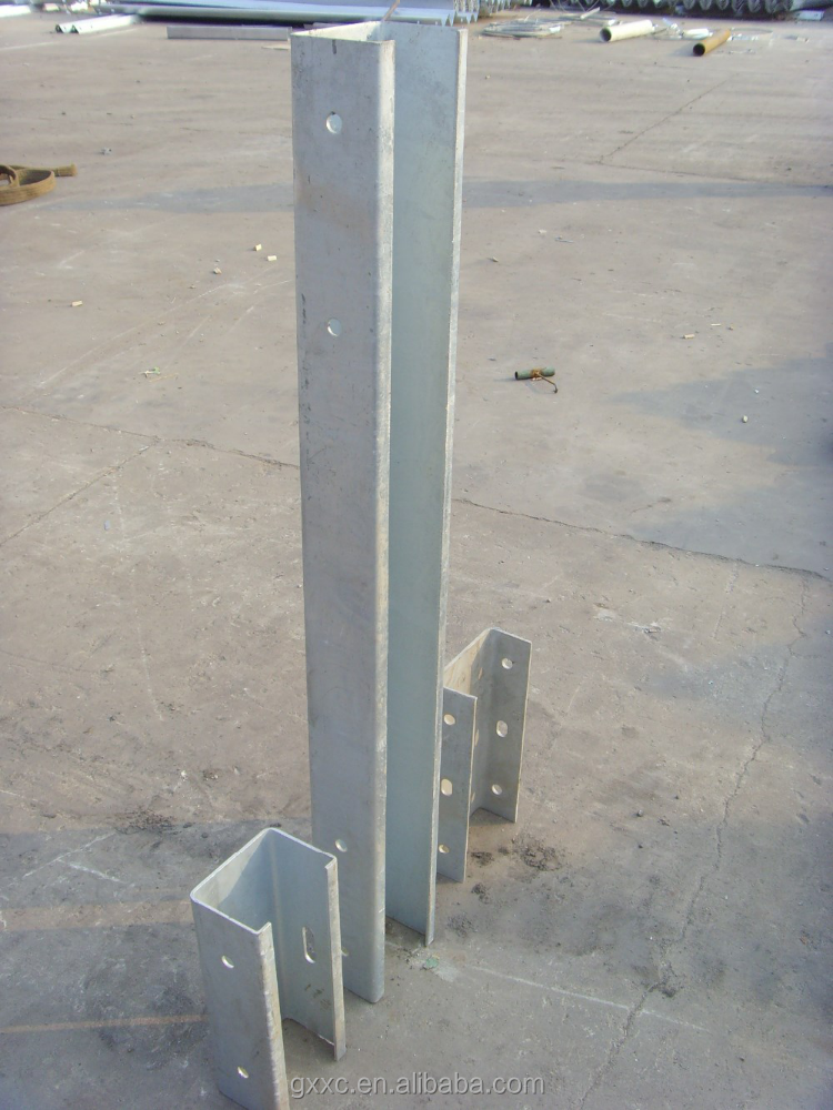 U post used for highway guardrails