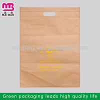 Guangzhou die cut plastic hdpe high quality die cut handle bag