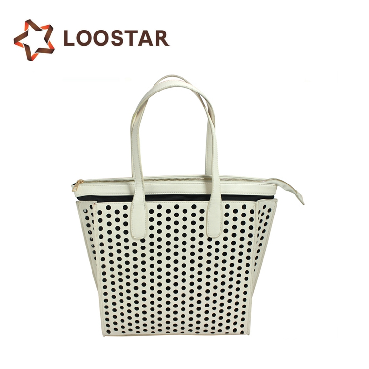 Dot Hollow Out Designer Import Fashion Handbags Made in China