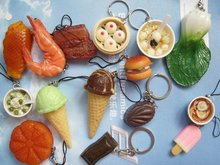 Simulation food cell phone key chain