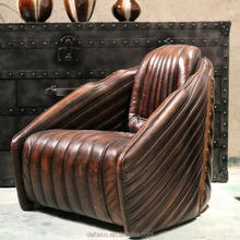 Hand Finished Vintage Leather Club Chair with Nail Heads