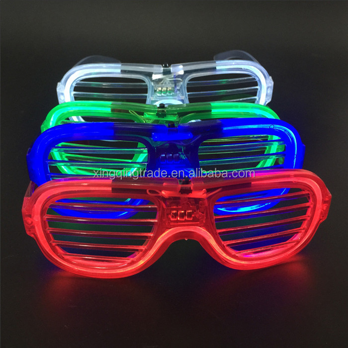 Flashing Party LED Light Glasses for christmas Birthday Halloween party decoration supplies glow glasses