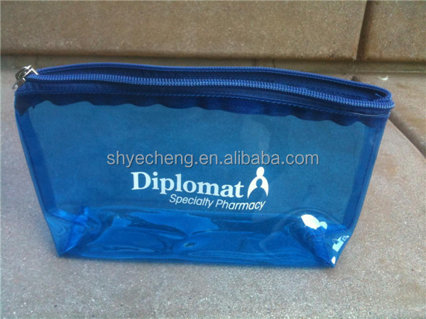 cheap sales high quality cosmetic zip lock pvc plastic pouches manufacturer