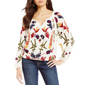 Floral Peasant Embroidered Blouse for Women Bangkok