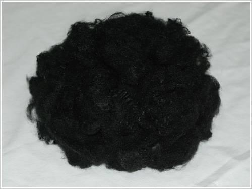 Black Colored Carbon Fiber Polyester Staple Fiber for Spinning