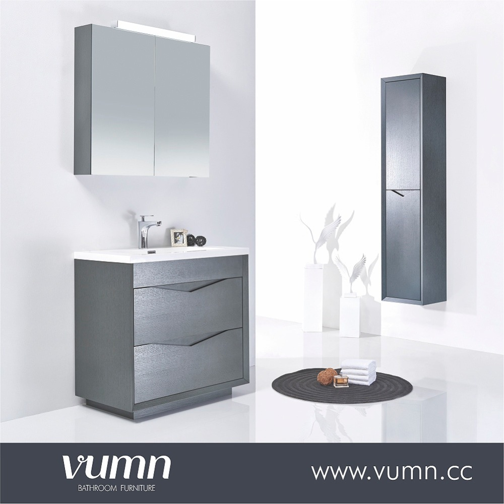 Cheap wholesale floor-standing used wood bathroom furniture price