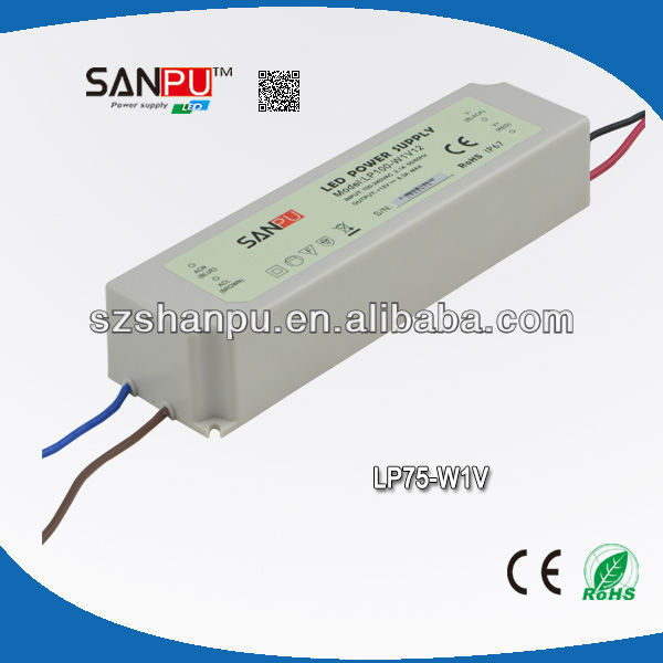 SANPU 2013 hot selling CE ROHS waterproof IP67 75W led driver 5v variable voltage dc power supply transformer