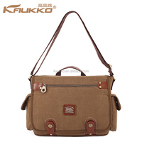 High quality fashion canvas Laptop Bag with 3 Colors