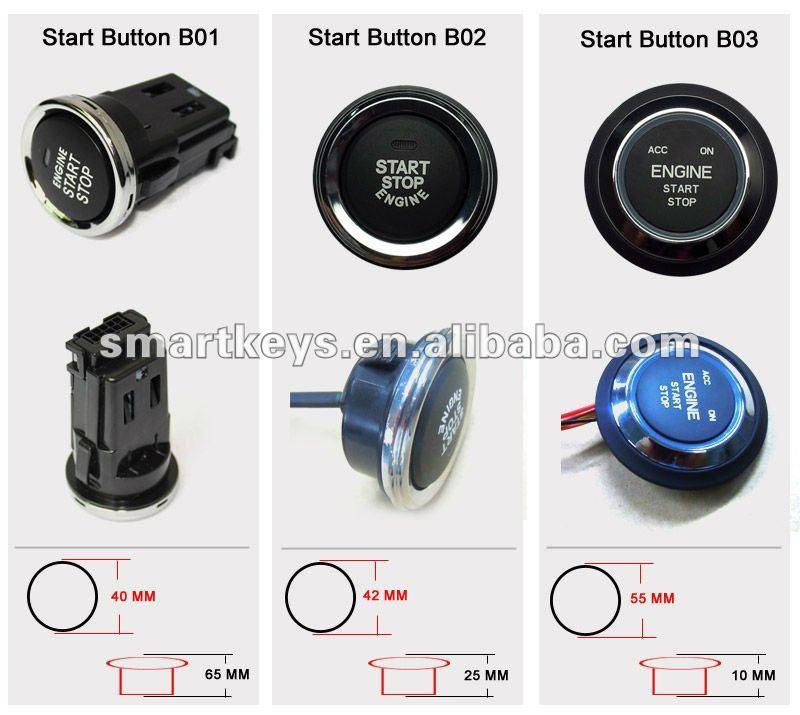 push button start engine start stop button arranque sin llave autom vil sistemas de encendido. Black Bedroom Furniture Sets. Home Design Ideas