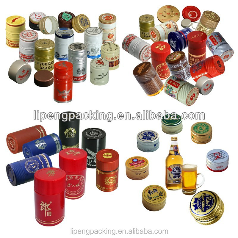 High Sealing Function Beautiful Custom Designable Cheap ROPP Beer Bottle Caps and bottle with Molding Liner