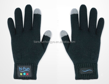 Acrylic knitted bluetooth talking gloves