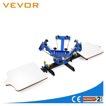 Vevor 4 color 2 station rotary t shirt screen printing for Screen printing machine for t shirts for sale