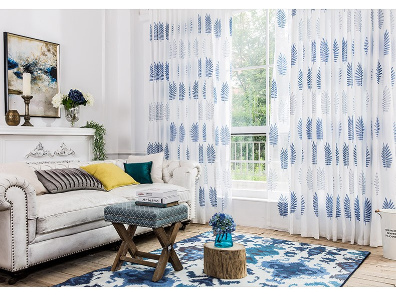 fashion sheer curtain fashion embroidery stripe curtains bedroom living room pleated blackout curtain
