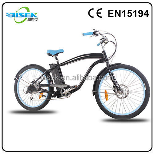 48V chopper beach cruiser electric bicycle