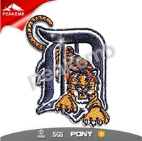 Detroit Embroidery Patch Iron On Tigers Embroidered Patch