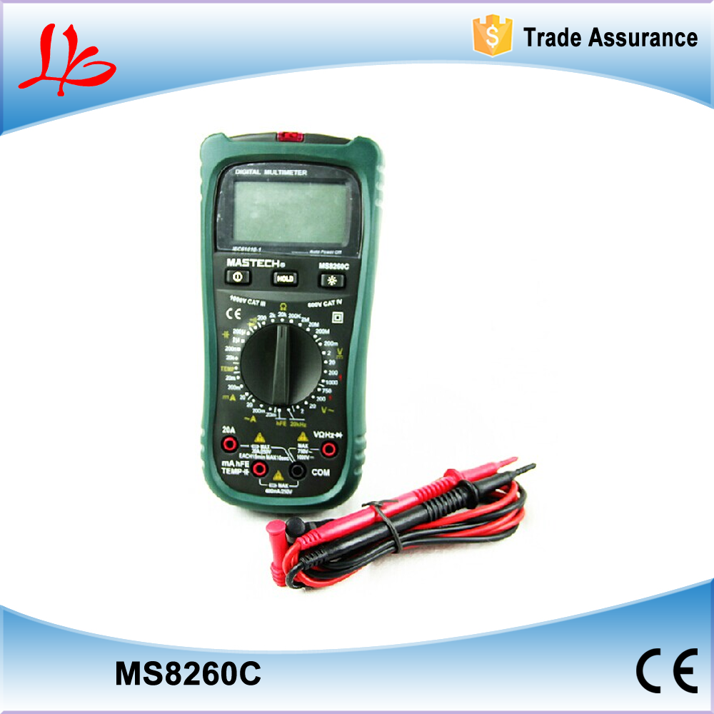 Free Shipping Mastech MS8260C AC/DC 10A DIGITAL MULTIMETER DMM
