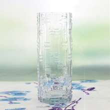 Wholesale Tall clear Glass vase Glass Cylinder Vase for home decoration