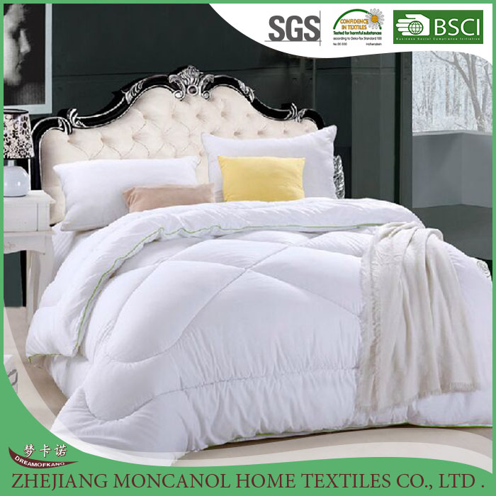 New design Cheap white soft microfabric filling polyester fabric cotton quilt for wholesaler