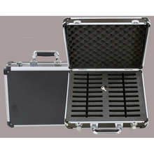 Customers custom jiaxing factory sturdy hard portable aluminum case for 20pcs mobile phone