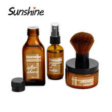 Skin Care Containers Salon amber after shave bottles for men