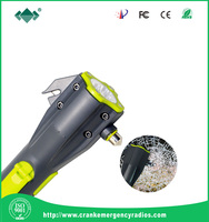 Belt cutter Siren/blinking auto /car safety hammer