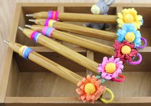 sunflower wooden ball pen& wholesale flower pen& wood pen CH-6844