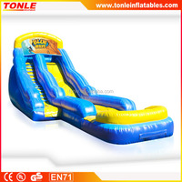 Promotional inflatable 18ft Blue Wave Water Slide for sale