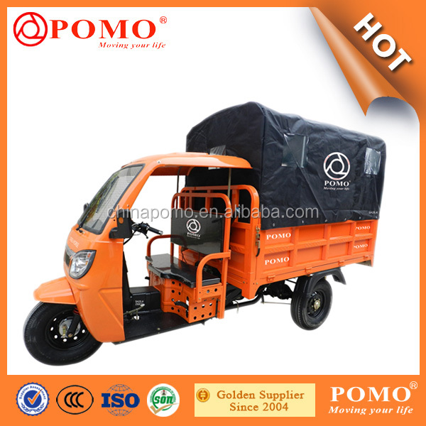 2016 Semi-Closed Cargo Chinese 250CC Motorcycle Three Wheel Three Wheeler Auto Dump Rickshaw 3 Wheel Cargo Tricycle For Sale